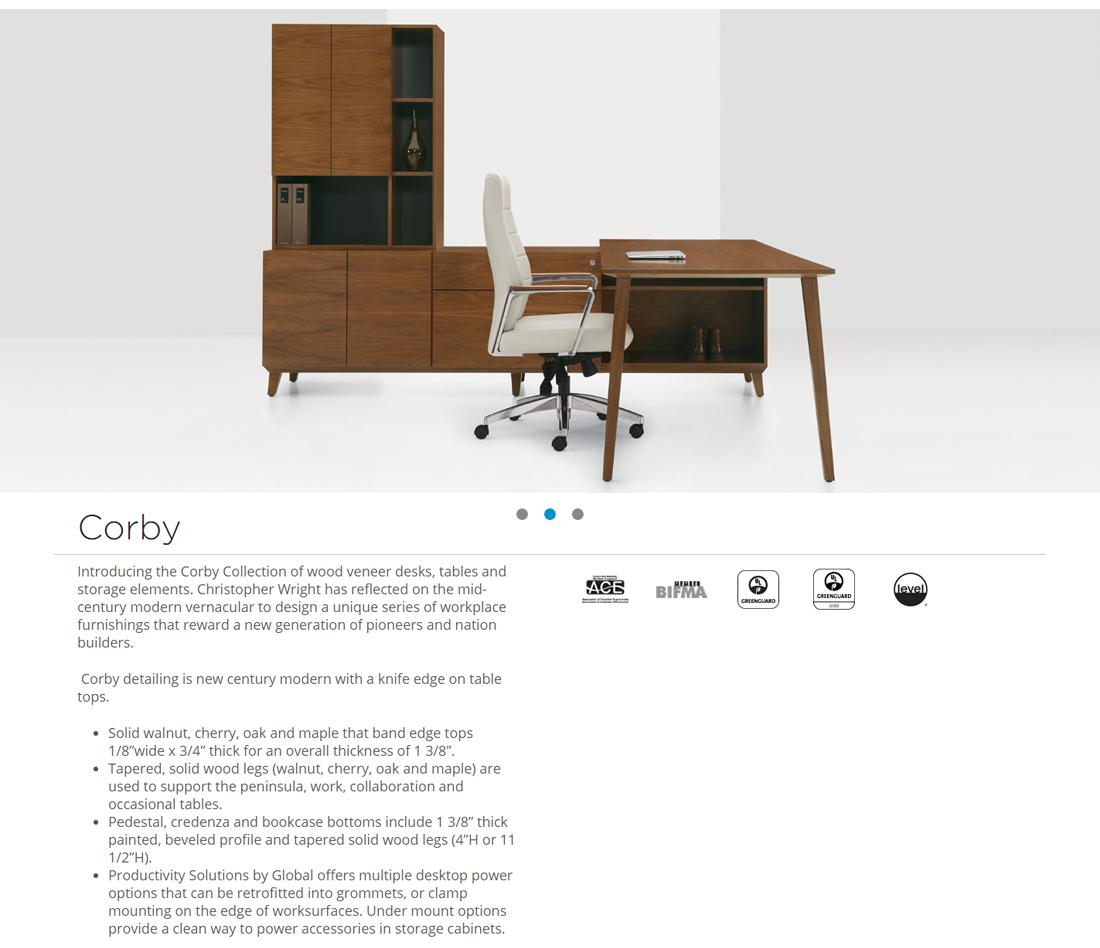 Veneer Desking - All American Office Furniture
